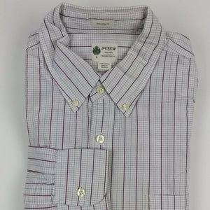 J. Crew Tailored Fit Plaid Check Shirt Size Large
